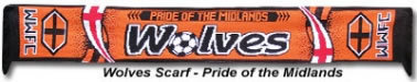 Wolves Football Scarf