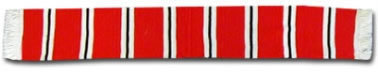 Red, White & Black Bar Scarf