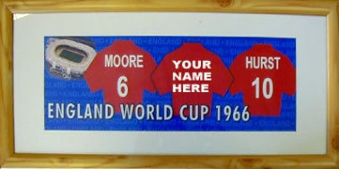 England 1966 World Cup Player Print