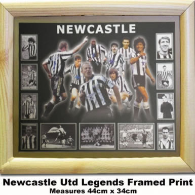 Newcastle Legends Framed Print Newcastle United Poster