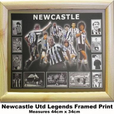 Newcastle Utd Football Legends Print