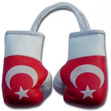 Turkey Flag Mini Boxing Gloves