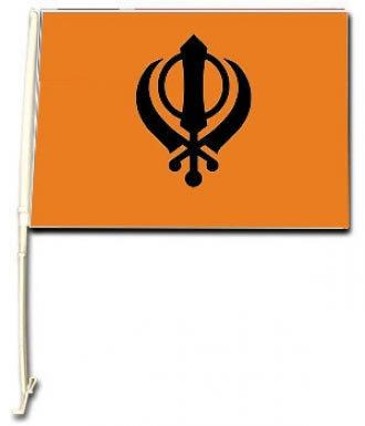 Sikh Khanda Car Flag