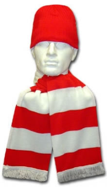 Red & White Hat & Scarf Set