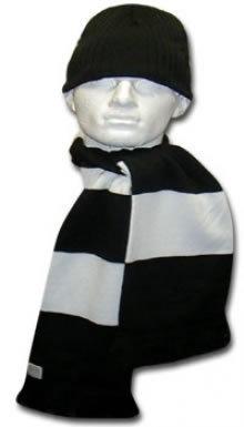 Black & White Hat & Scarf Set