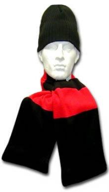 Red & Black Hat & Scarf Set