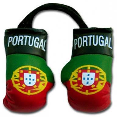 Portugal Flag Mini Boxing Gloves