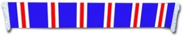 Blue, Red & White Bar Scarf