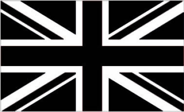 Giant Black Union Jack Flag 5ft x 3ft