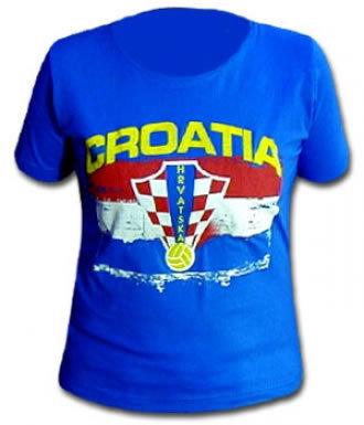 Croatia Skinny Fit T-Shirt