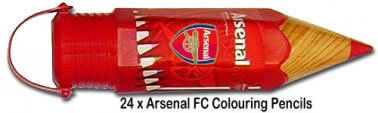 Arsenal FC Colouring Pencils