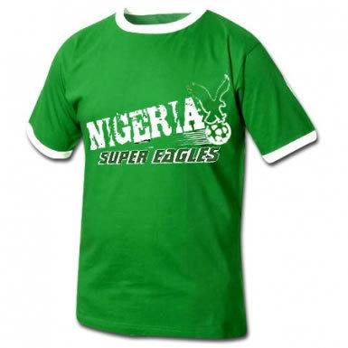 Nigeria super eagles football t shirt ref nigeria01 for Eagles football t shirts