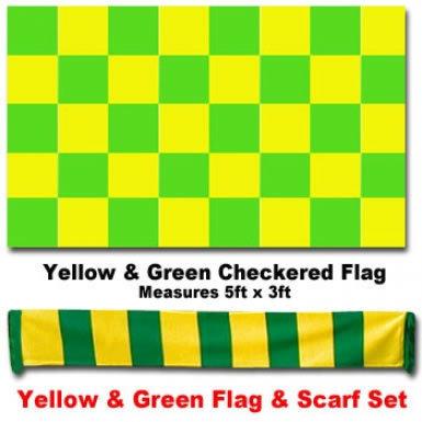 Yellow & Green Scarf & Flag Set