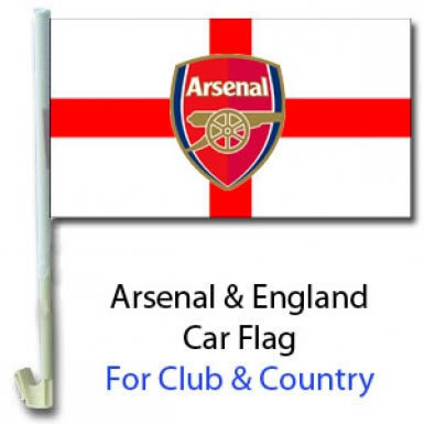 Arsenal & England Car Flag