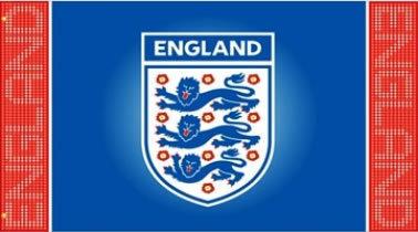 Official England 3 Lions Body Flag