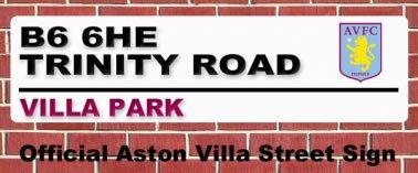 Aston Villa Trinity Road Street Sign