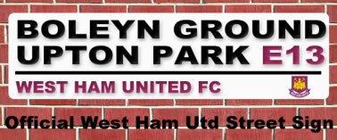 West Ham Utd Upton Park Street Sign