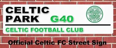 Celtic FC Celtic Park Street Sign
