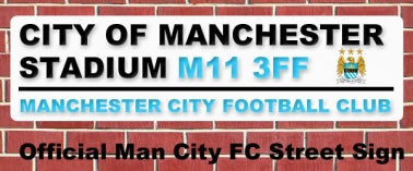 Man City Street Sign