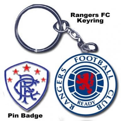 Rangers Keyring & Badge Set
