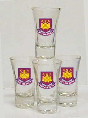 West Ham Shot Glasses West Ham Whiskey Shot Glasses Hammers Glass West Ham Mug
