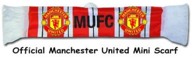 Man Utd Crest Mini Scarf for the Car