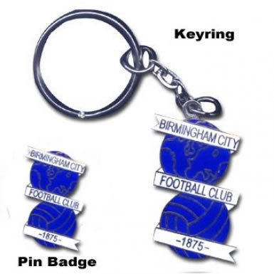 Birmingham Keyring & Pin Badge Set