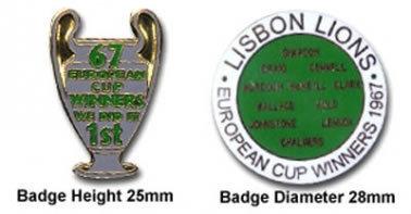 Celtic Lisbon Lions Badges
