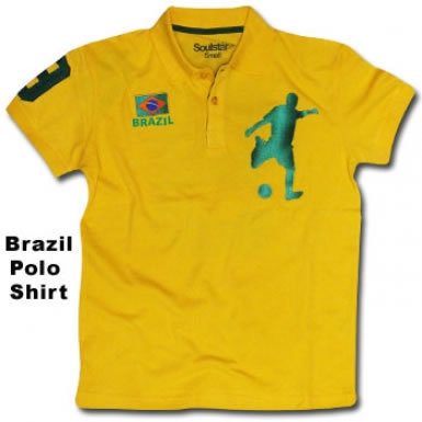 Brazil Football Polo Shirt