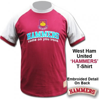 Official West Ham United Hammers Crest T-Shirt