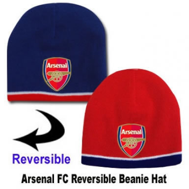 ...Red white sports fc reversible beanie bear toy key ring gooners.