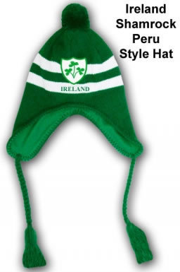 Ireland Shamrock Peru Style Hat