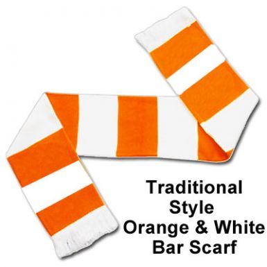 Orange & White Bar Scarf