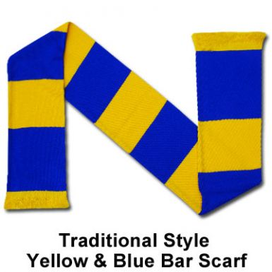 Yellow & Blue Bar Scarf