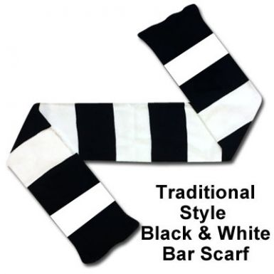 Black & White Bar Scarf