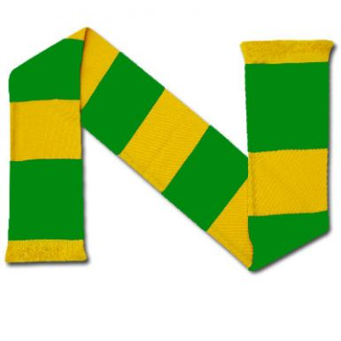 A Green and Gold Bar Scarf