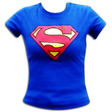 Superman Ladies Skinny Fit T-Shirt
