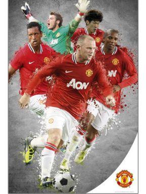 Man Utd Players Montage Poster