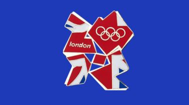 London 2012 Olympics Logo Giant Flag
