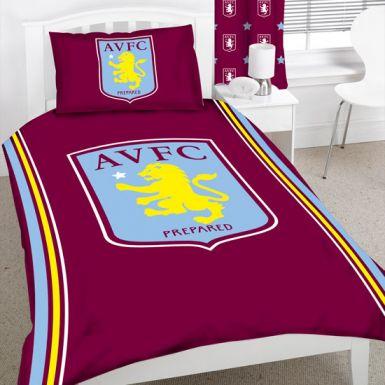 Aston Villa Single Duvet Set