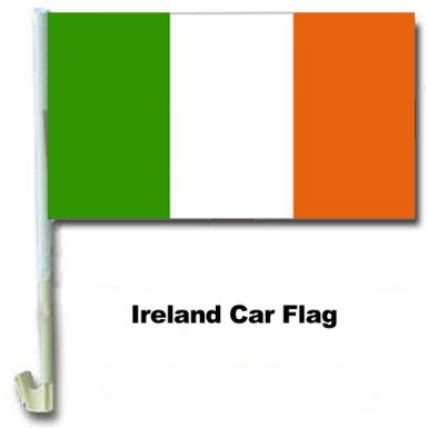 Ireland Tricolour Car Flag