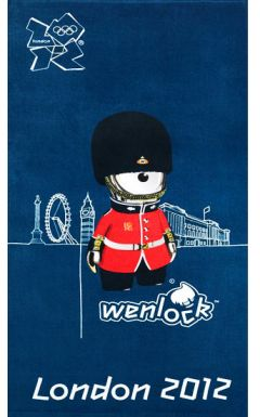 2012 London Olympic Wenlock Mascot Towel