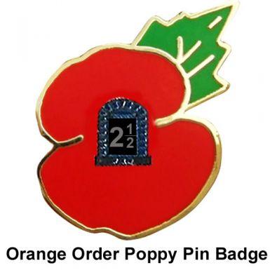 Orange Order Loyalist Poppy Pin Badge