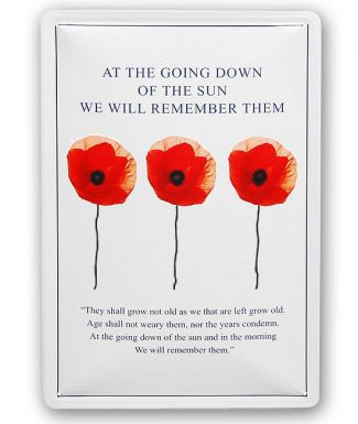 Bomber Command Poppy Wall Plaque