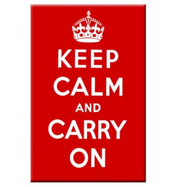 Keep Calm & Carry On Tea Towel