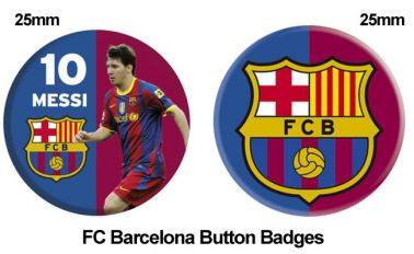 FC Barcelona Crest & Messi Badge Set