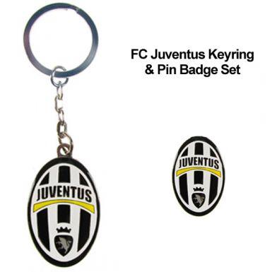 FC Juventus Keyring & Badge Set