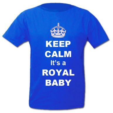 William & Kate Keep Calm It's A Royal Baby T-Shirt