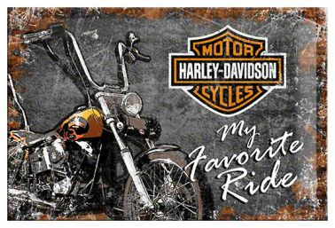 Harley Davidson Crest Tin Wall Plaque