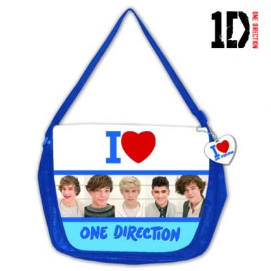 I Love One Direction Boy Band Messenger Bag